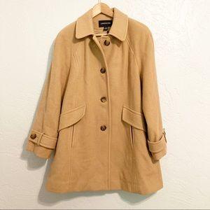 London Fog Wool Trench Coat /Jacket - Tan & Lined